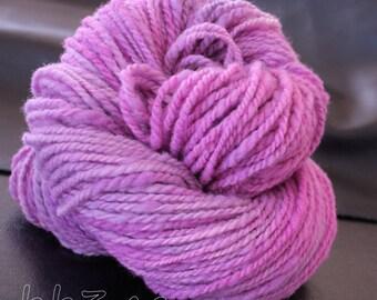 Corriedale Handspun Yarn Hues of Purple