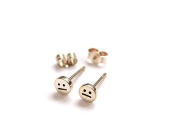 Face Stud Earrings, Silver Earrings, Face Studs, Handmade Silver Stud Earrings, Precious Earrings