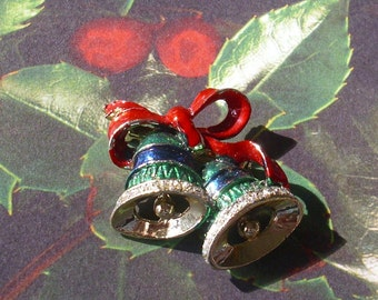 Vintage Christmas Bells Brooch