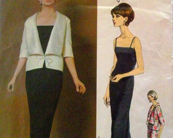 Vogue Paris Original Pattern 1405 by Pierre Cardin Size 14 Evening Dress and Jacket