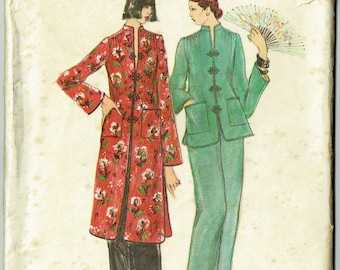 "Vintage Sewing Pattern 1970s Ladies' Jacket & Pants Vogue 9349 31.5"" Bust"