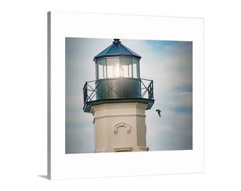 Block Island, Lighthouse Art, Rhode Island, New England, Lighthouse Picture, Seaside, Seacoast, Print on Canvas, Giclee Canvas Art, Wall Art