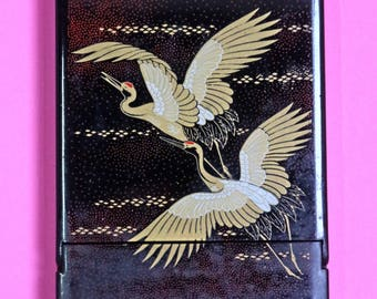 Crane Art Box Mirror (made in Japan)