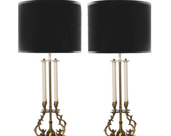 Parzinger Stiffel Brass Table Lamps