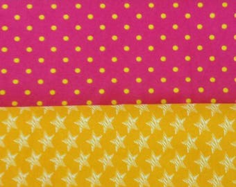 1/2 Fat Half  of each fabric mix total of 1.5 yards