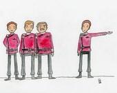 Living legends - illustration inspired by Star Trek Generations