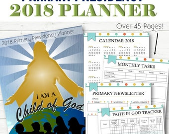 2018 Primary Presidency Planner - INSTANT DOWNLOAD