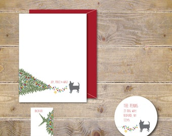 Dog Christmas Cards, Holiday Card Set, Dogs, Dog Stationery, Dog Cards, Christmas Cards Dogs, Pets, Family Cards
