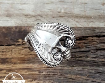 Spoon Ring Sterling Silver Towle Old Colonial Spoon Ring Reticulated Cut Out Spoon Ring Sterling Silver
