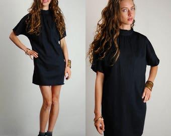 Vintage Dress / Vintage Black Dress / Vintage Mini Dress / Little Black Dress / 90s Dress / Grunge Dress / Vintage 90s Dress / Medium Large