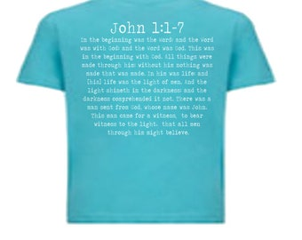 Youth John 1:1-7 The Vulgate, Classical Conversations Shirt, Cycle 3 Latin, Scripture Scholar, Memory Master. Foundations Student