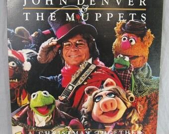 "John Denver and the Muppets: A Christmas Together Record Vintage 12"" Vinyl LP Album 1979"