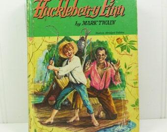 Huckleberry Finn, Tom Sawyers Comrade Mark Twain, 1955 Modern Abridged Whitman Edition