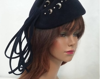 Avant Garde Navy Wool Hat m111