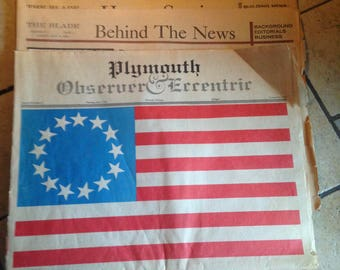 July 4, 1976  Newspapers Featuring US Bicentennial