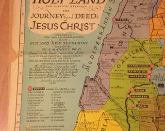 1974 Pilgrim's Map of the Holy Land