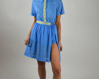 50s Romper, Blue Romper, Jack LaLanne, Exercise Suit, 50s Exercise,Grecian Style, 1950s Romper, Vintage Exercise Outfit, Roman Style