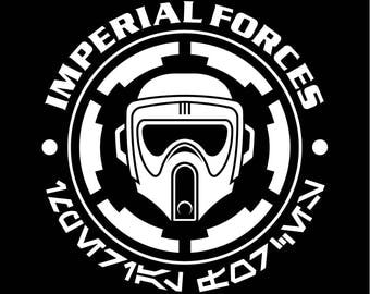 Star Wars BIKER SCOUT stormtrooper Imperial Cog T-Shirt screen printed last jedi helmet