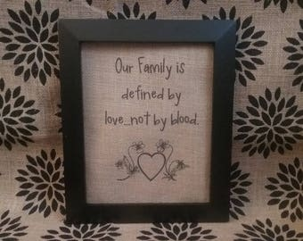 Blended Family Burlap Print