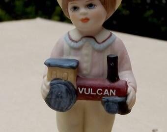 """Vintage 1984 """"Parry"""" Jan Hagara Doll Ornament Bisque Porcelain"""
