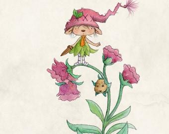 Winnie Snapdragon - Elf Art - Art Print