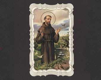 Gilded Saint Francis Prayer for my Pet Holy Card - Available in 1, 5 and 10 Packs