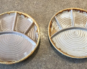 Laurentian Tundra Lava  Set of 2 Fondue/Sushi Plates 70s