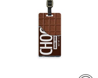 Luggage Tag Chocolate Candy Bar Luggage Tag Personalized  Luggage Tag - Single Tag