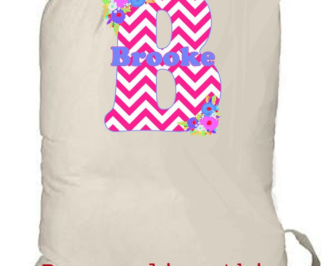 LAUNDRY BAG, Large monogrammed laundry bag, college laundry bag, travel laundry bag, dirty clothes bag, laundry tote bag, personalized tote