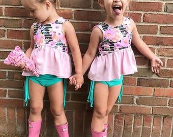 New Floral Crop, Peplum or Dress, girls, kids, toddlers girls