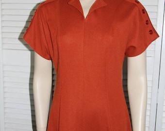 Vintage Dress - Pumpkin Orange 1970's