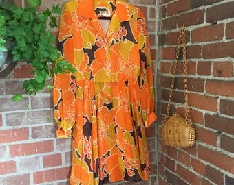 1970's Groovy Vintage Dress