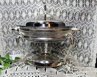 Regal Silver Plated Chafing Dish - Food Warmer
