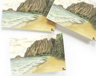 beach stationery, note card set, blank cards, beach invitations, cards and envelopes
