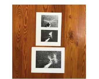 c.1970 FLY TYING prints - original vintage fly fishing prints - angling prints - hand tied flies - sport fishing prints - fly lures prints