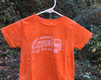 Garbage Truck Shirt, Kids Truck Shirt, Boys Garbage Truck Shirt, Orange Truck Shirt, Girls Truck Shirt, Boys Truck Shirt, Orange Shirt (4/5)