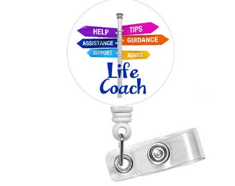 Counselor Badge Holder - Social Worker Badge Clip - Life Coach ID Badge - LPC Badge - Clinical Psychologist ID - School Counselor Badge Reel