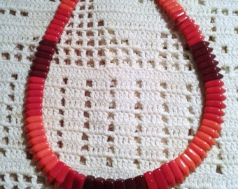 Red/Orange  Coral Native American Choker Necklace