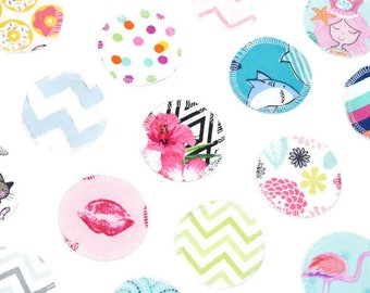 Reusable Makeup Remover Pads | Face Scrubbies | Facial Rounds | Makeup Wipes | Set of 20 | Flannel | Random Assortment