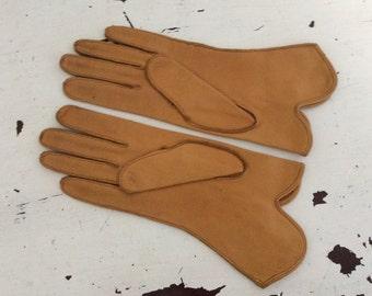 Vintage Deerskin Leather Ladies Gloves Sz 7