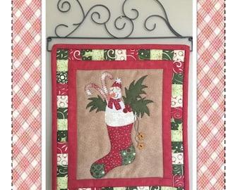 Jingle Snowman packaged mini quilt pattern QD-145