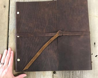 pre made one of a kind brass post portfolio - Resume Holder