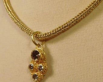 Diamond Pendant, 22k gold