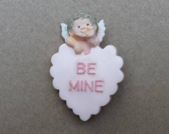 Be Mine Heart Cupid Vintage Valentine's Pin