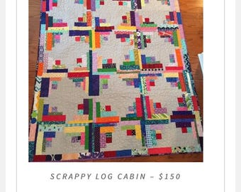 Scrappy Log Cabin
