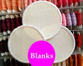 Three blank cross stitch patches - DIY patch - stitchable patch - cross stitch kit