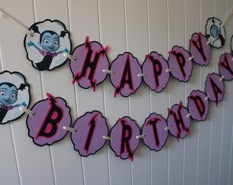 Vampirina Birthday Banner - MADE TO ORDER