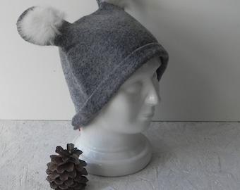 Gray wool hat, felt woman hat, felted original hat, designer hat, woman hat from wool, Ready to send