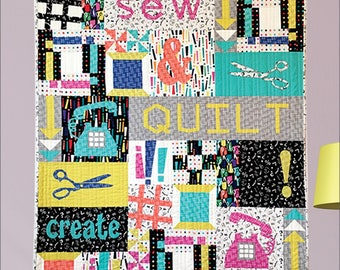 "QUILTING FUN (Quilt Pattern) - ""Happy Place"" - By Swirly Girls Design"