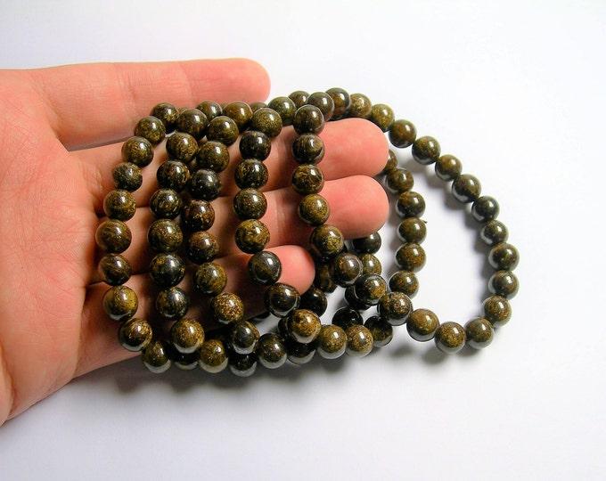 Bronzite  - 8mm round beads - 23 beads - 1 set  - HSG80
